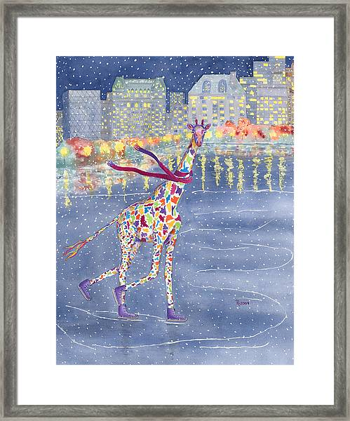 Annabelle On Ice Framed Print