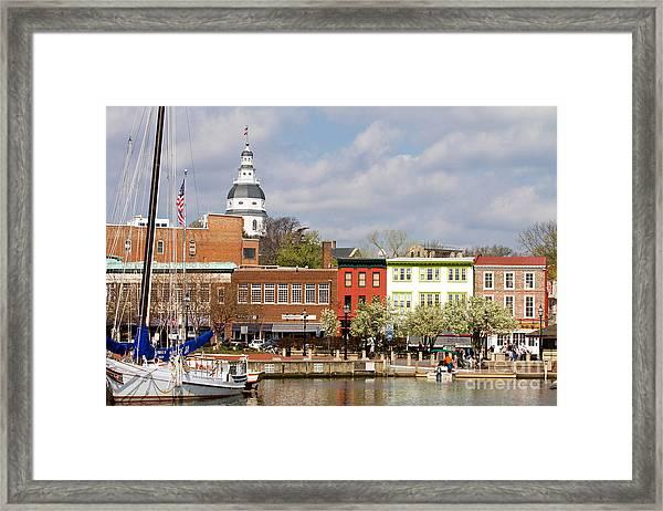 Annapolis Downtown Harbor Framed Print