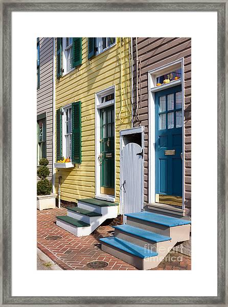 Annapolis Historic Homes I Framed Print