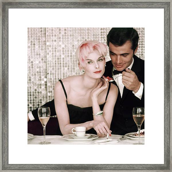 Anne St. Marie Being Fed By A Man Framed Print