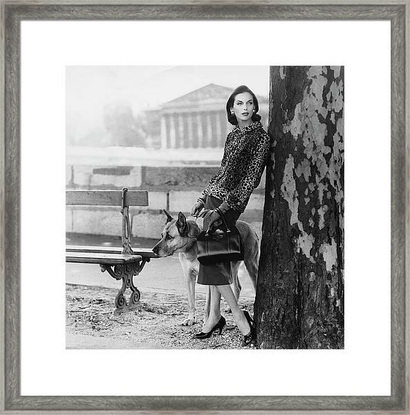 Anne St. Marie Wearing  A Chanel Jacket Framed Print