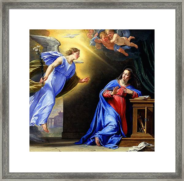 Annunciation Framed Print