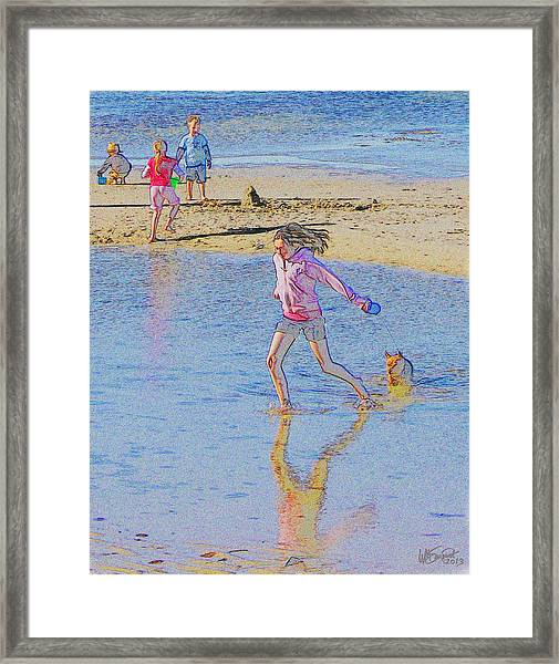 Another Day At The Beach Framed Print