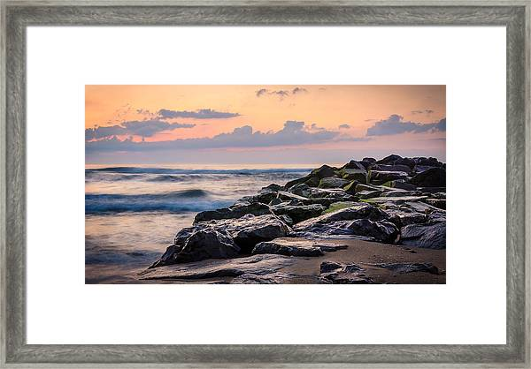 Framed Print featuring the photograph Another Ocean Grove Sunrise by Steve Stanger