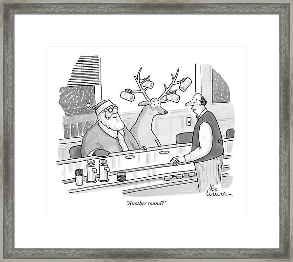 Another Round? Framed Print