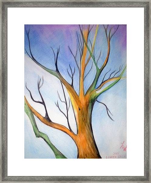 Another Tree Watercolor Framed Print