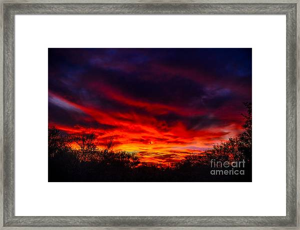 Another Tucson Sunset Framed Print