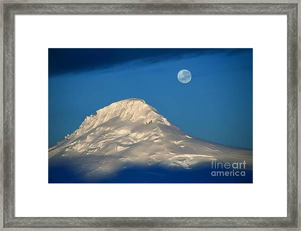 Antarctic Moon Framed Print