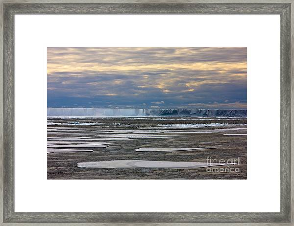 Antarctica Ross Ice Shelf Edge  Framed Print