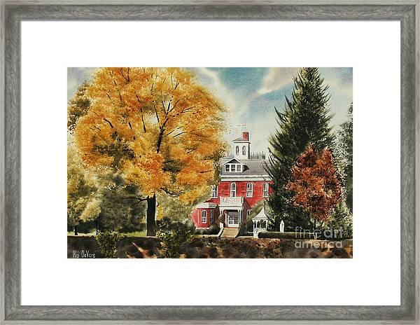 Antebellum Autumn Ironton Missouri Framed Print