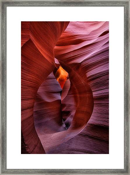 Antelope Canyon Tunnel Framed Print