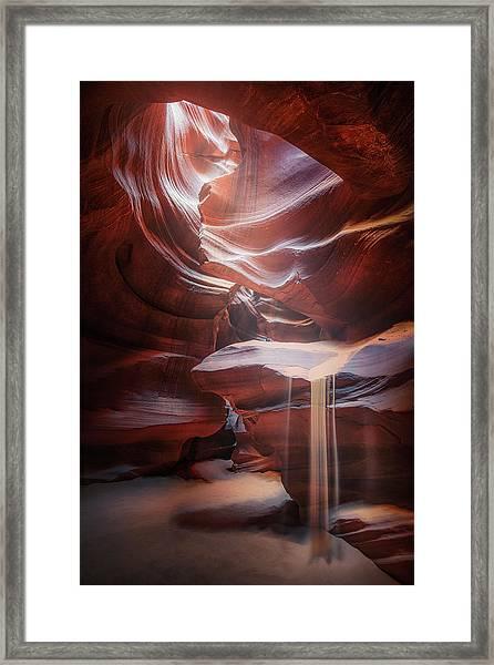 Antelope Sandfall Framed Print