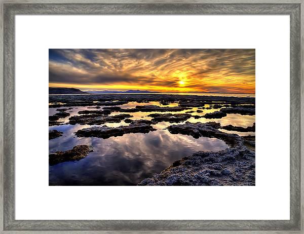 Antelope Sunset Framed Print