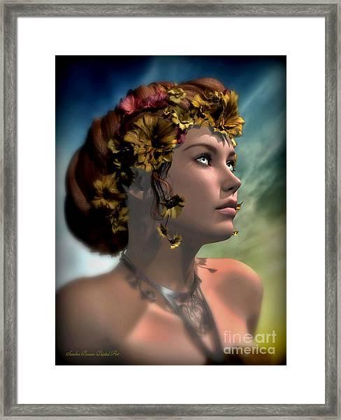 Antheia Framed Print by Sandra Bauser Digital Art