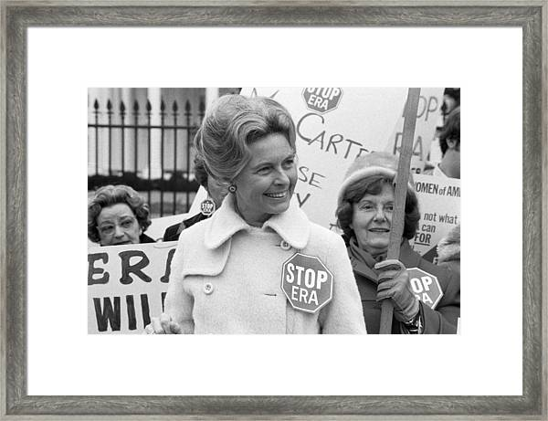 Anti Era Phyllis Schafly Framed Print