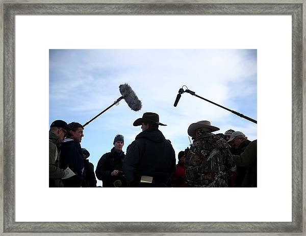 Anti-government Protestors Occupy National Wildlife Refuge In Oregon Framed Print by Justin Sullivan