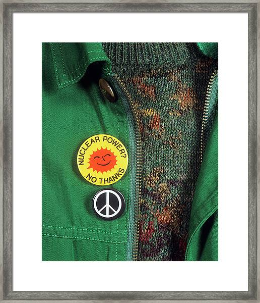 Anti-nuclear Protest Framed Print