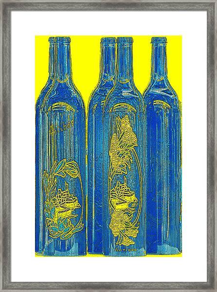 Antibes Blue Bottles Framed Print