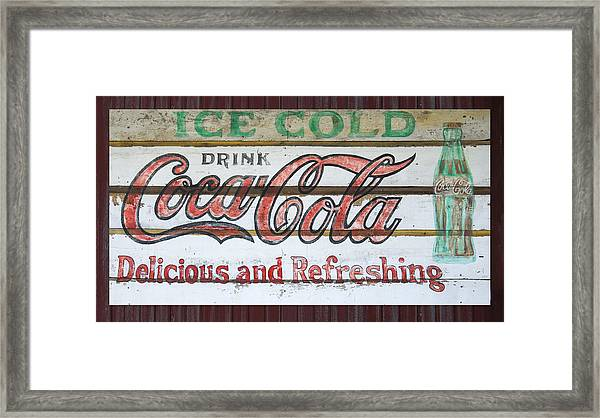 Antique Coca Cola Sign  Framed Print