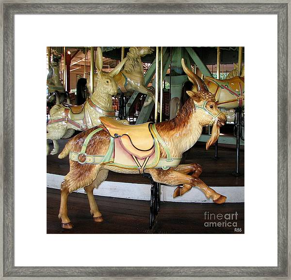 Antique Dentzel Menagerie Carousel Goat Framed Print