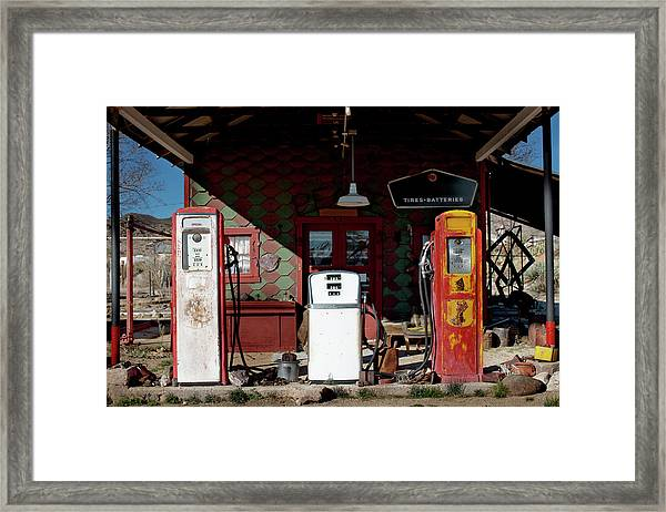 Antique Gas Station Framed Print