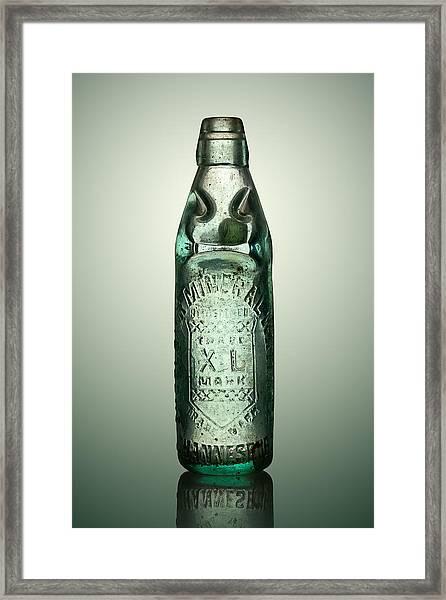 Antique Mineral Glass Bottle Framed Print