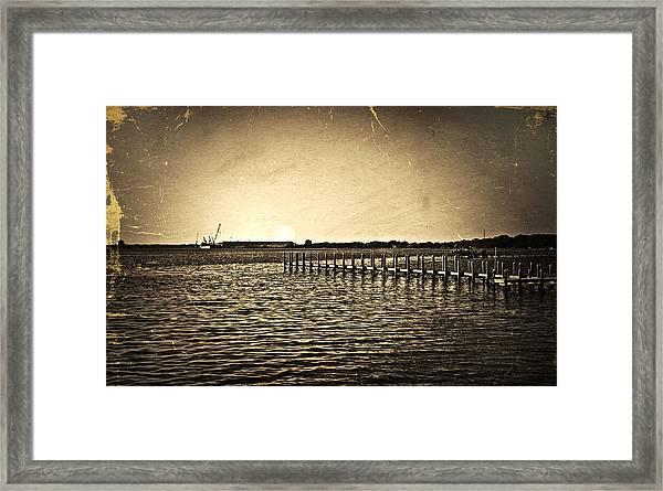 Antique Photo Of Pier  Framed Print