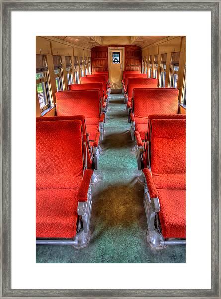Antique Railroad Coach Car Framed Print