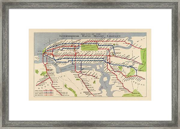 Framed New York Subway Map.New York City Subway Framed Art Prints Fine Art America