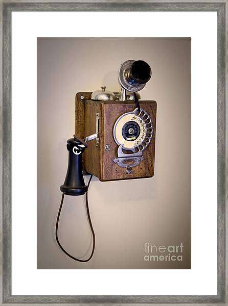 Antique Telephone Framed Print