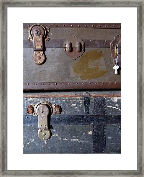 Antique Trunks 5 Framed Print