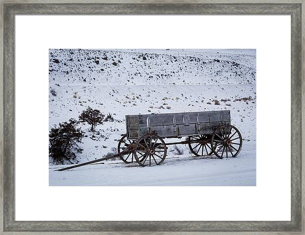 Antique Wagon Framed Print