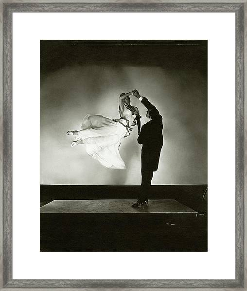 Antonio And Renee De Marco Dancing Framed Print