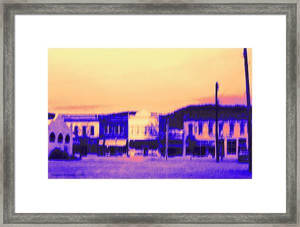 Anytown Evening Framed Print