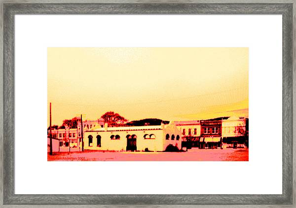 Anytown New Mexico Framed Print