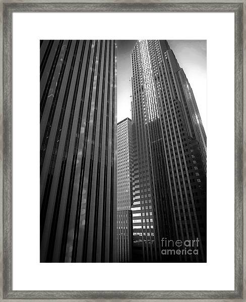 Aon Center Framed Print