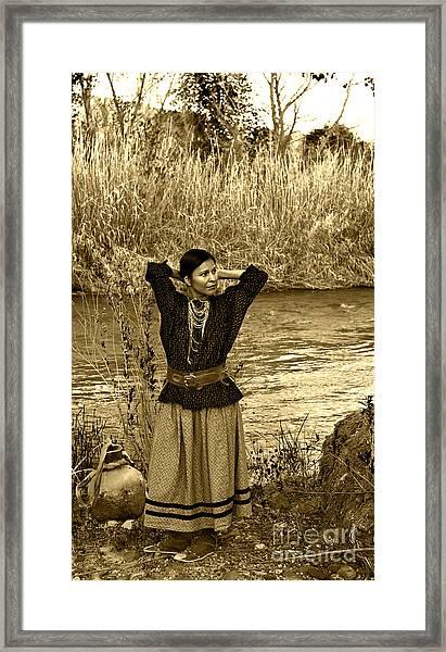 Apache River Maiden Framed Print