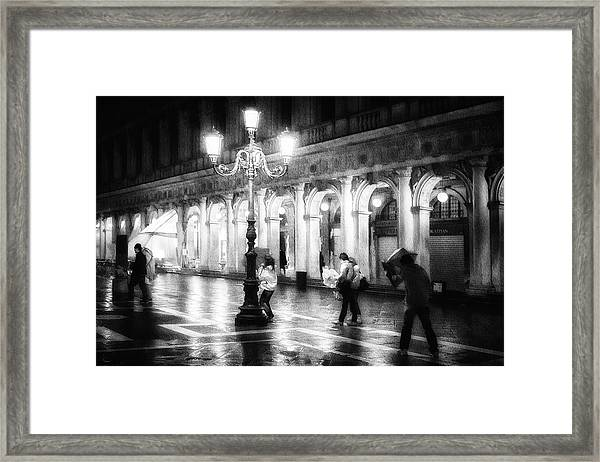 Apart From Storm And Rain ... Framed Print by Roswitha Schleicher-schwarz