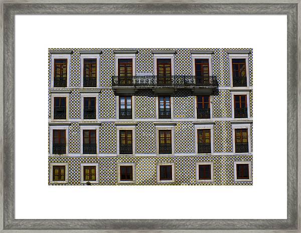 Apartment Block In Lisbon  Framed Print