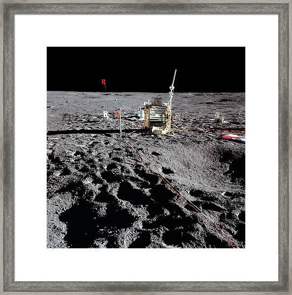 Apollo 14 Photo Of Alsep Framed Print