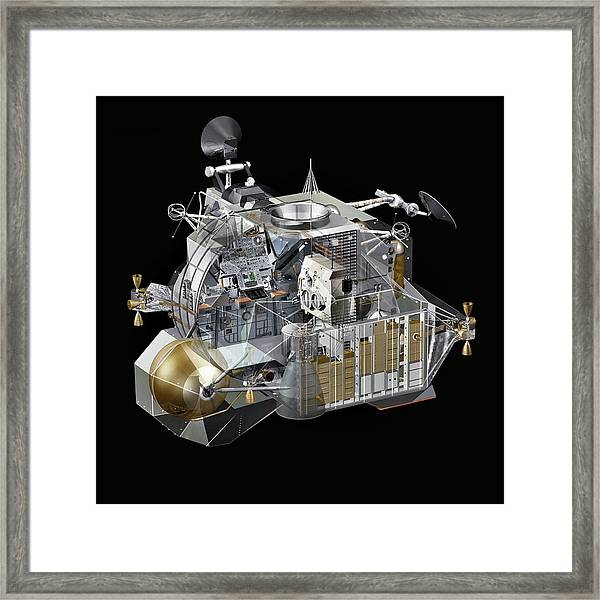 Apollo Lunar Module Ascent Stage Framed Print by Carlos Clarivan/science Photo Library