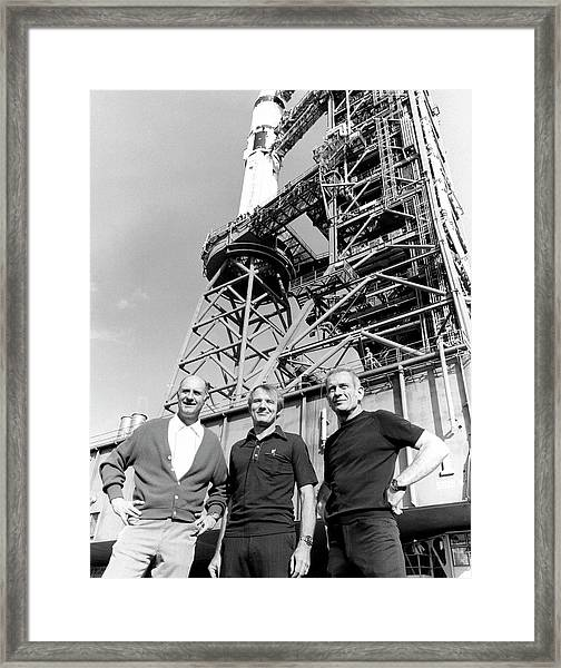 Apollo Soyuz Test Project Us Crew Framed Print