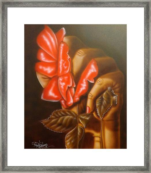 Apology Not Accepted Framed Print