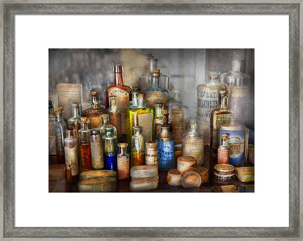 Apothecary - For All Your Aches And Pains  Framed Print