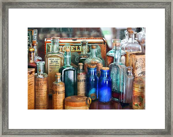 Apothecary - Remedies For The Fits Framed Print