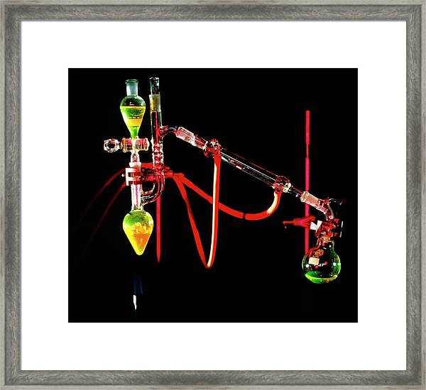 Apparatus Used For Chemical Distillation Framed Print by David Taylor/science Photo Library