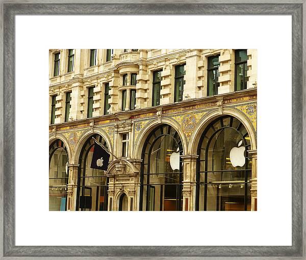 Apple On Regent Street Framed Print