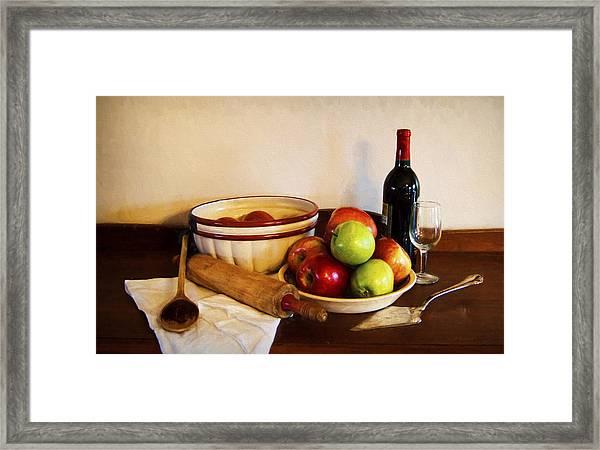Apple Pie Impressions Framed Print