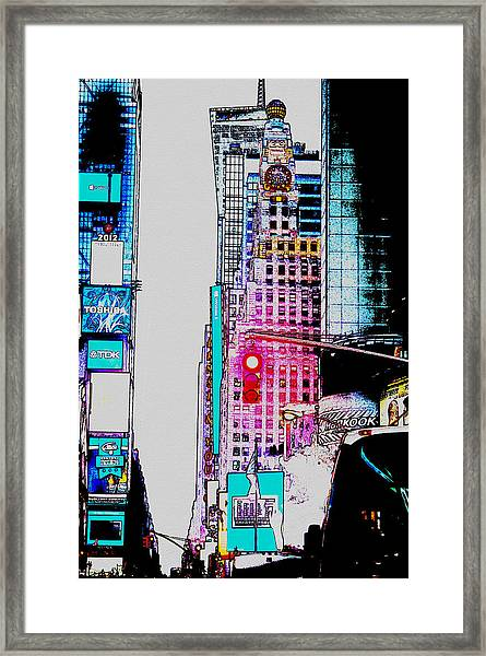Approaching Times Square Framed Print