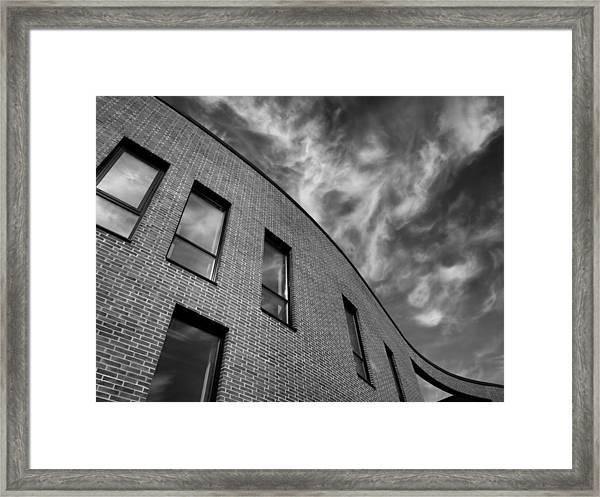 April Clouds Framed Print